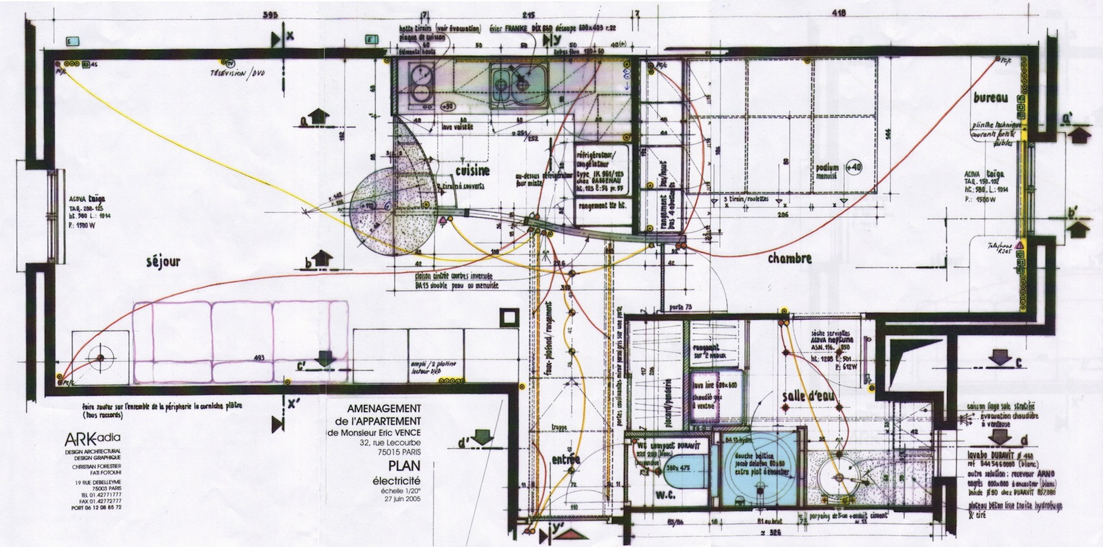 plan d'implantation électrique