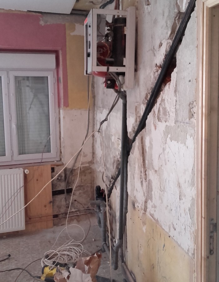 mur de la cuisine