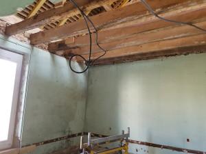 Tirage de gaines électrique chantier Gouaix